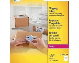 Avery BlockOut Laser Labels 99.1x93.1mm (Pack of 600) L7166-100