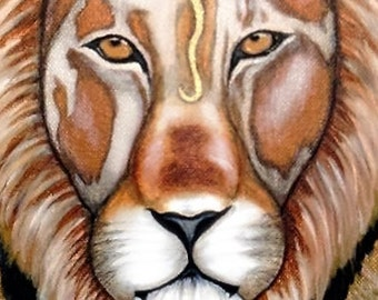 Lion Strength Art Print Open Edition and Giclee
