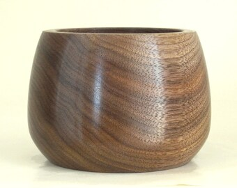 Handcrafted Wood Bowl in Walnut