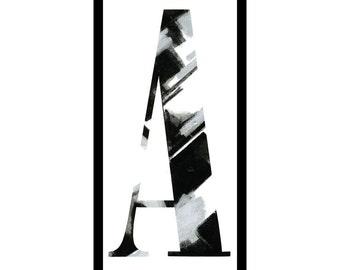 "Framed letterpress ""A"""