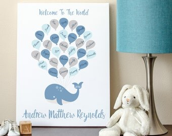 DIGITAL** Baby Shower Guest Book Alternative, Whale Baby Shower Sign, Baby Shower Sign In, Baby Shower Print **DIGITAL**