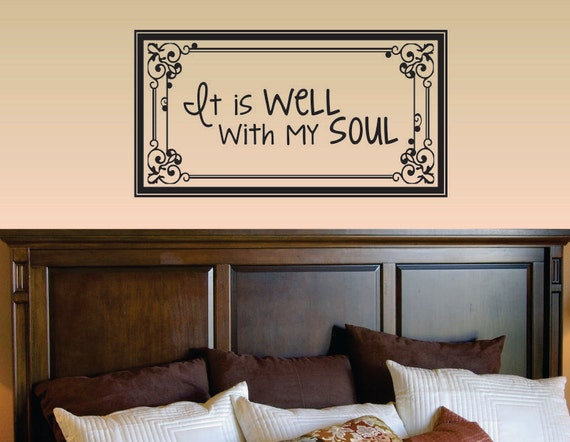 It Is Well With My Soul Picture Quotes: Slap-Art™ It Is Well With My Soul Wall Art By