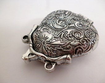 Silver Tone Purse Charm Pendant_PA0070291_Large Silver Charm_Purse_of 45mm_1/12in_pack 1 pcs