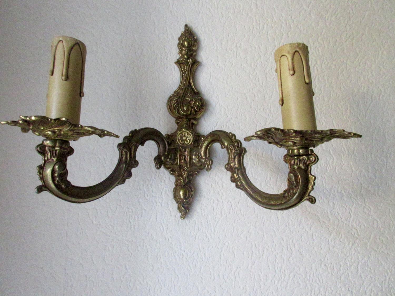 Ornate Brass Wall Lights : Beautiful Brass Sconce Ornate Decoration Wall Lighting