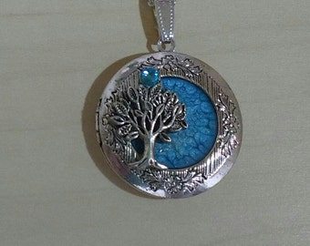 Antique Silver Tree of Life Locket Hand made pendant