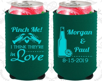 Pinch Me, I think they are in Love, Neoprene Wedding, Cajun, Crawfish Boil Party, Neoprene Wedding Favors (337)
