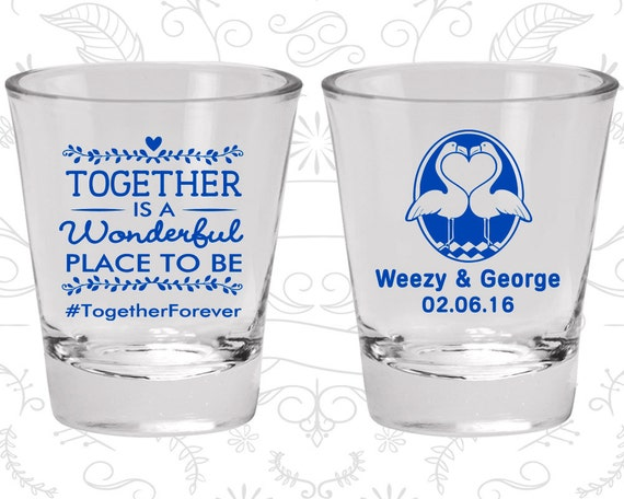 Together Is A Wonderful Place To Be Wedding Glassware