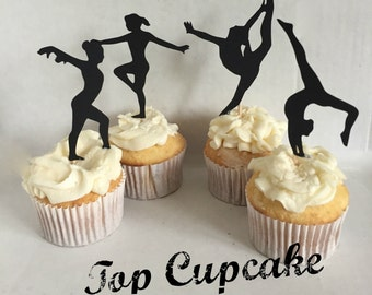 Gymnastics Cupcake Toppers -12