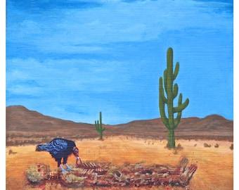 Original Art Print, Modern Art Print, Psychedelic Artwork, Landscape Painting