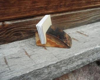 rustic card holder