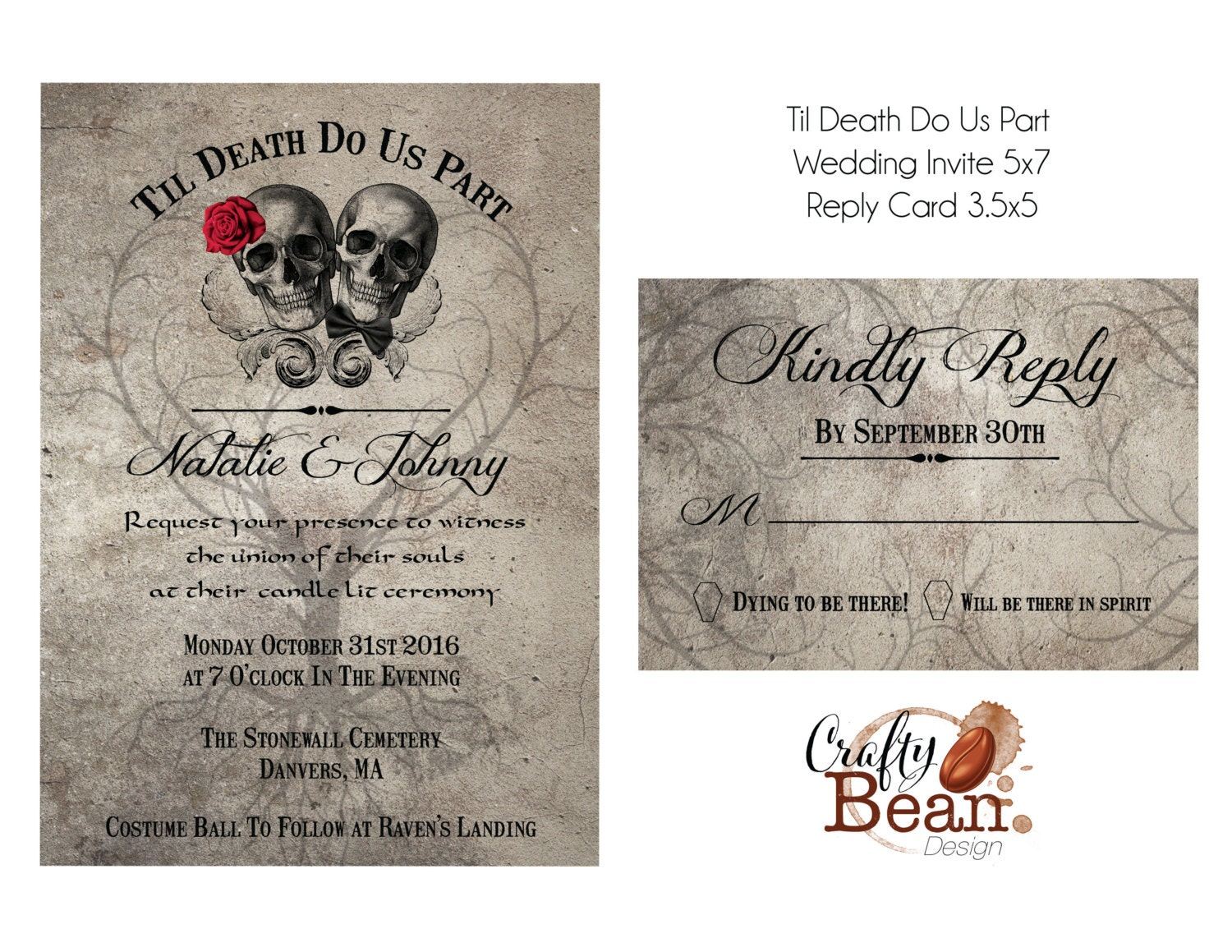 Parts Of Wedding Invitation: Til Death Do Us Part Wedding Invitation DIY Printable With