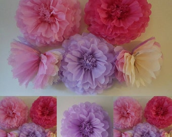 one 14inch wedding party girls room wall decorations tissue paper pompoms flowers