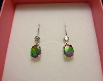 Pretty Ammolite Dangle Earrings