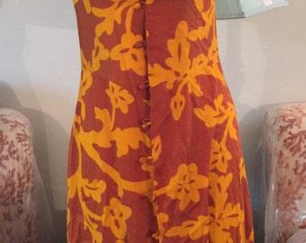 Vintage 70s maxi dress with hot pants shorts