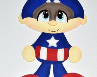 Super hero Scrapbooking, Super hero die cut, Captain America die cut, Captain America scrapbooking, Marvel die cuts, Marvel super heroes