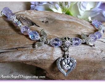 Arms of An Angel Pet Loss Bracelet; Angel Pet Sympathy; Angel Dog; Angel Pet; Angel Cat; Pet Angel Memorial; Pet in Heaven; Rainbow Bridge