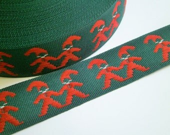 "1 m Woven Ribbon ""Gnome"" 22 mm w  from Sweden"