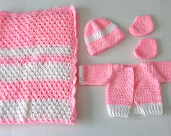 Crochet Baby Blanket Set