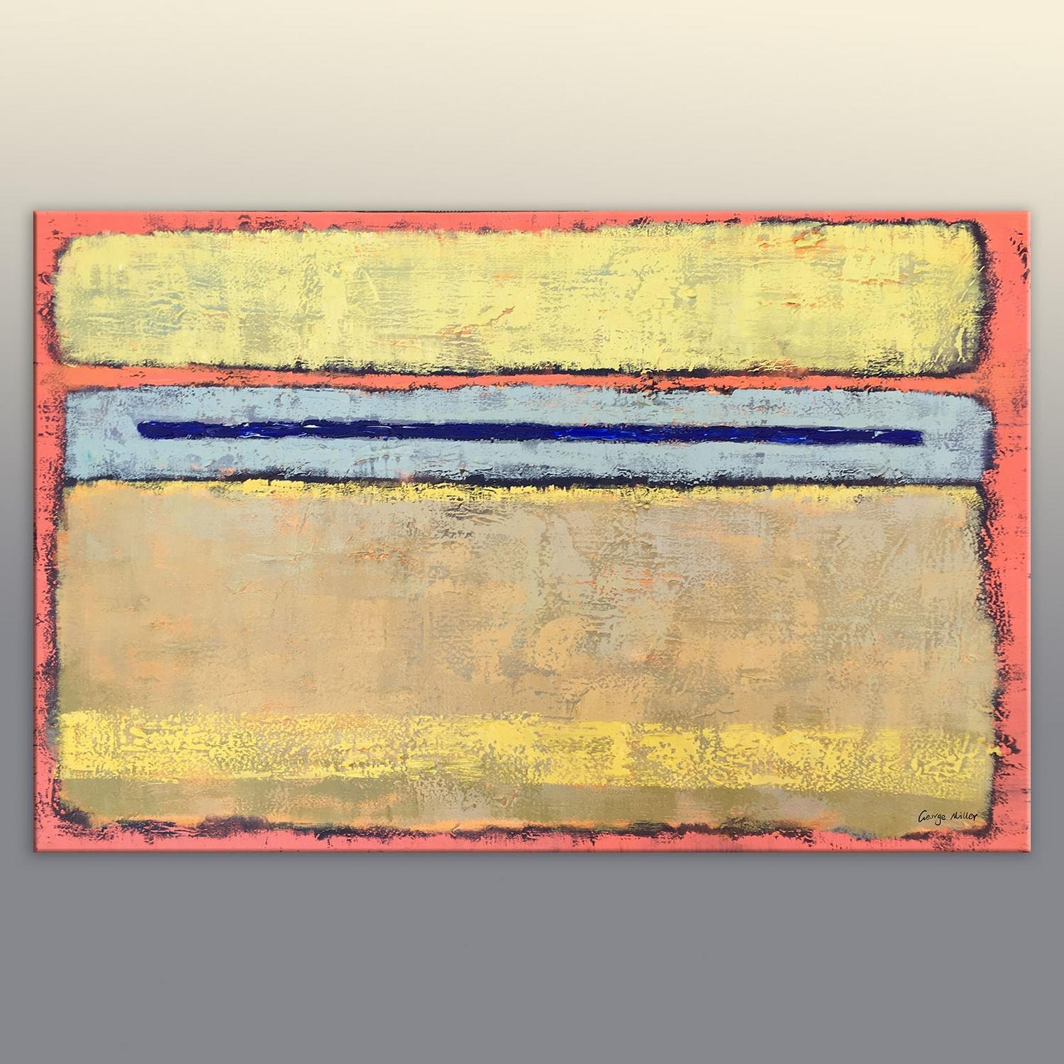 Abstract painting kitchen wall art mark rothko original for What kind of paint to use on kitchen cabinets for ready to hang canvas wall art