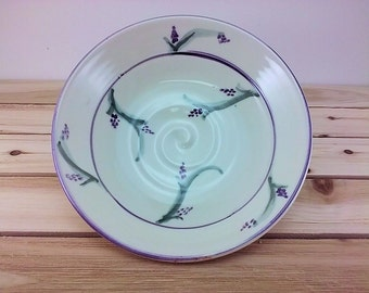 Hand painted ceramic bowl for soup bowl ceramic cereal bowl pottery ice cream bowl ceramic lavender pottery bowl