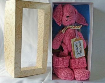 Wool Critter with snugg boots - pink
