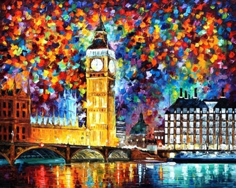 London Wall Art Big Ben Oil Painting On Canvas By Leonid Afremov