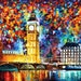 "Big Ben, London — Uk England Wall Art Artwork Oil Painting On Canvas By Leonid Afremov. Size: 40"" X 30"" Inches (100 cm x 75 cm)"