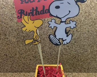 Snoopy centerpiece / Snoopy and Woodstock