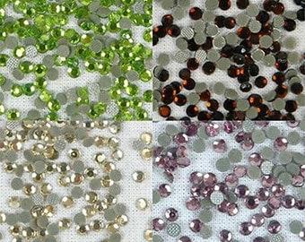 5760 Pcs Ss10 Hotfix Rhinestones 3mm Hot Fix- 4 Spring Colors - By Threadart