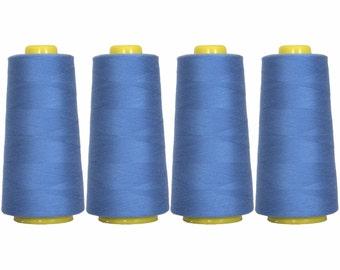 4 Big Cones Dusty Navy Serger Sewing Thread 2750 Yd Tex 27 40s2 - Threadart