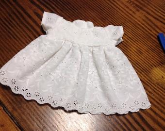 """15"""" doll clothes eyelet dress"""