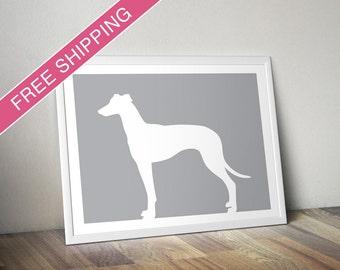 Greyhound Print - Greyhound Silhouette