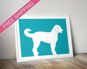Labradoodle Print - Labradoodle Silhouette, Labradoodle art, modern dog home decor, dog portrait