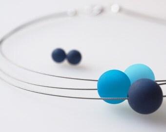 blue necklace turquoise set polaris necklace blue