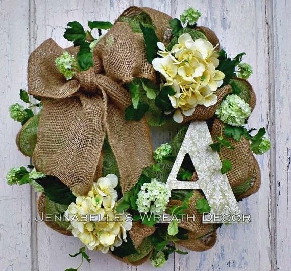 Summer Wreath Spring Wreath Door Decor Burlap Deco Mesh