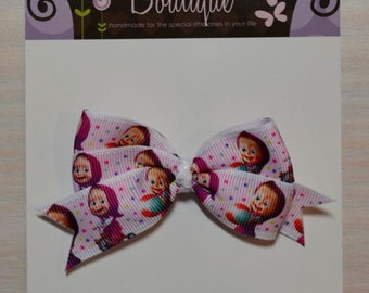 Boutique Style Hair Bow - Masha and the Bear 2