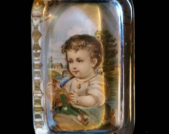 Victorian Collage Paperweight
