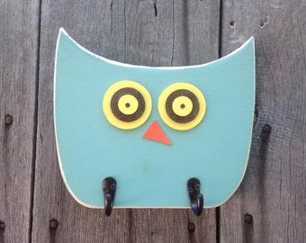 Cute owl coat rack hooks