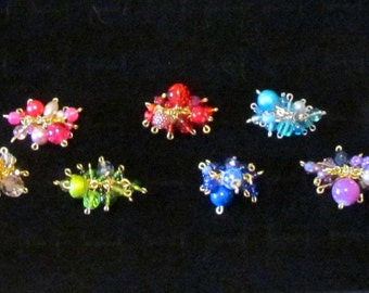 Fun and Funky Bangle Rings, Comes in 8 Colors and in Gold or SIlver Wire