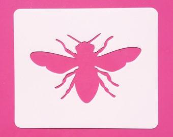 Bee Stencil, Reusable Bee Stencil, Bee Template, Mylar Bee Stencil