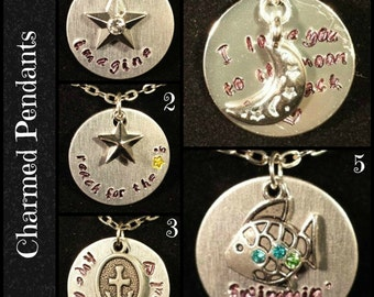 Charmed Pendants - Ready to Ship