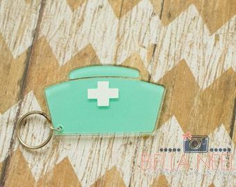Nurses Hat Keychain