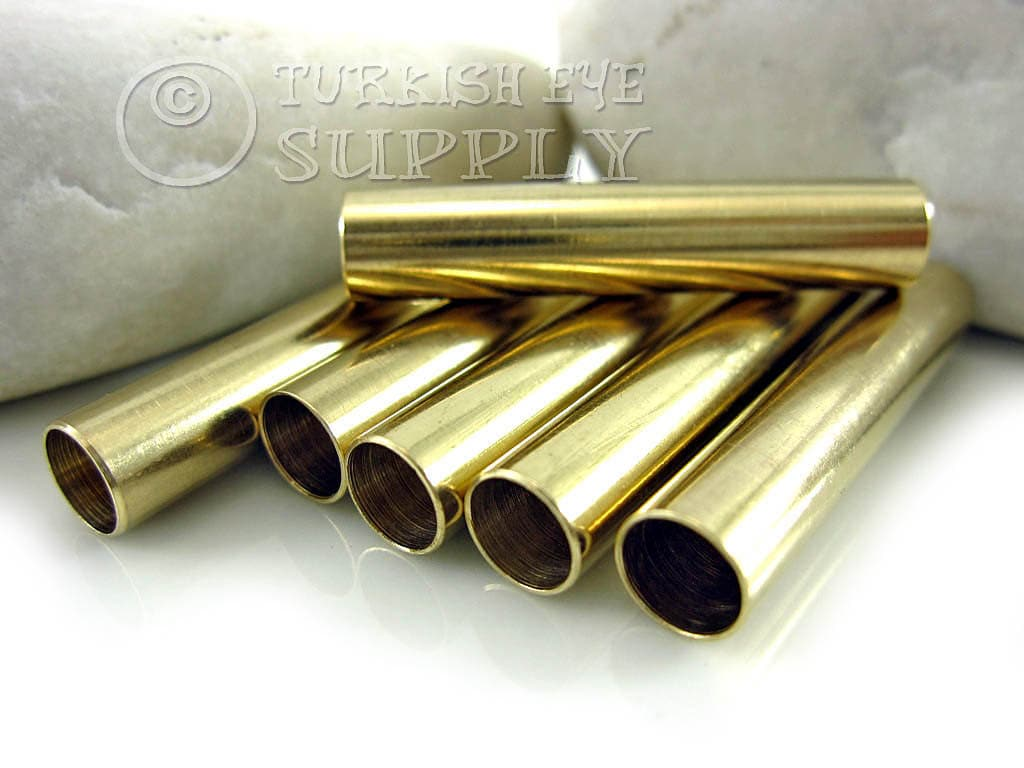 Raw brass tube spacer mm beads tubular