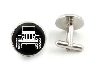 Jeep cufflinks 4X4 Jeep cufflinks off road cufflinks groom cufflinks off road gifts - with free jewelry box