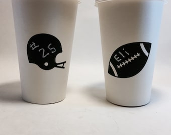 24 football superbowl tailgate chalkboard labels cups wine glass mason jar jars goodie bags name tags candy bar birthday party shower