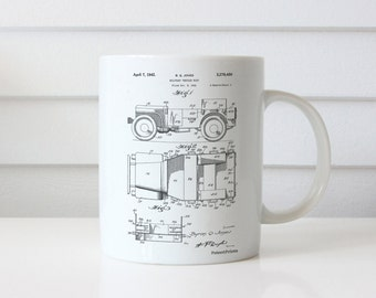 Willy's Jeep Patent Mug, US Army, Army Gifts, Willys Jeep, Military Gifts, PP0011