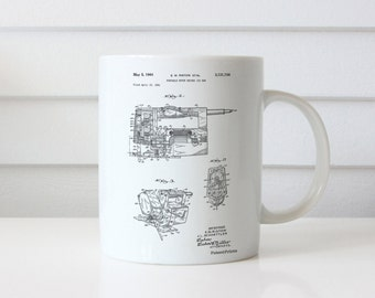 Portable Jig Saw Patent Mug, Tools Mug, Garage Decor, Man Gift, Unique Gifts for Dad, Man Cave, PP0957