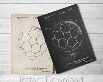 Soccer Printables, Soccer Ball Layers Patent, Soccer Room Decor, Soccer Coach Gift, Soccer Wall Art, PP1047