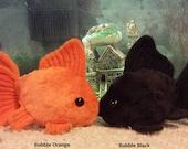 Made to Order Goldfish Plushie, handmade, stuffed animal, customizable, free gift with purchase, Free US Shipping
