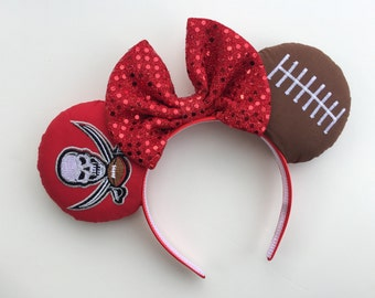 Tampa Bay Buccaneers Football Minnie Mouse Ears